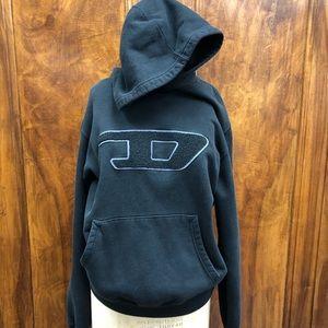 Diesel rare black hoodie patch
